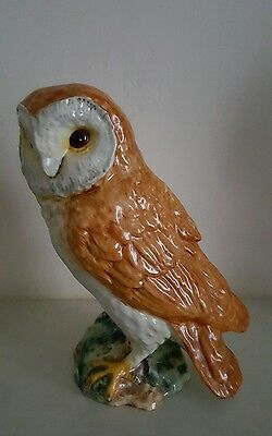 """Beswick large split tail owl height 7.3/4"""" in mint condition collectable l@@k"""