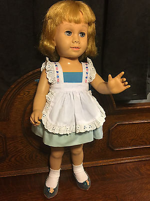 Chatty Cathy Doll1959 #1 (No Marked) Blonde Hair Blue Eyes Mute Good Cond.