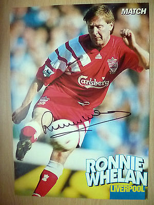 Original Hand Signed Press Cutting- RONNIE WHELAN, Liverpool FC (apx. A4 )