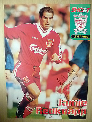 Original Hand Signed Press Cutting- JAMIE REDKNAPP, Liverpool FC (apx. A4 )