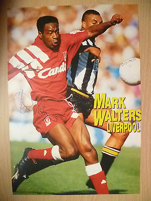 100% Genuine Hand Signed Press Cutting of Liverpool FC Player - MARK WALTERS