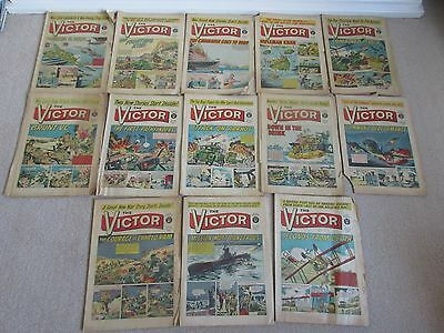 VICTOR COMICS x13 from 1965 Fair condition,