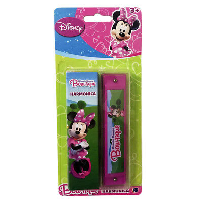 DISNEY MINNIE MOUSE BOW-TIQUE PINK HARMONICA | NOVELTY MUSICAL TOY GIFT. New.