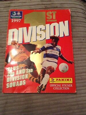 Signed 130 Stickers In Book 1st Division 1997
