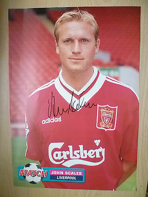 Original Hand Signed Press Cutting- JOHN SCALES, Liverpool FC (apx. A4)  ..