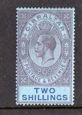 Gibraltar 1924 George V  2s Purple / Blue SG.99  LIGHTLY Mint Hinged