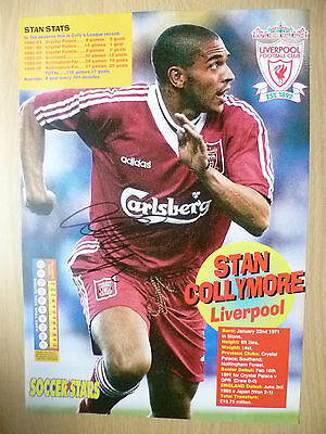 Original Signed Press Cutting- STAN COLLYMORE at Liverpool FC(apx11.5x8.2in)