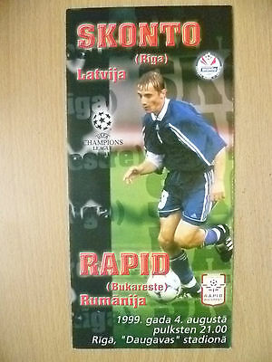 1999 UEFA Champions League- SKONTO v RAPID