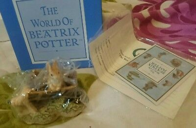 BNIB The World Of Beatrix Potter Peter Rabbit in wheelbarrow ornament