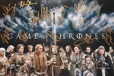 Game of Thrones Cast Signed Autographed Photo