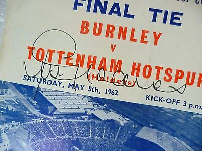JIMMY GREAVES Signed 1962 FA Cup FINAL Programme- BURNLEY v TOTTENHAM HOTSPUR