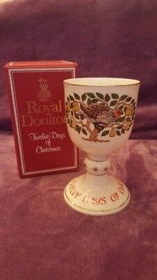 Royal Doulton Goblet 1st Day of Christmas ( Partridge in a Pear Tree )
