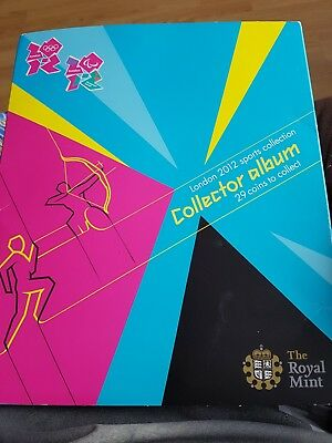 incomplete olympic coin collection and album