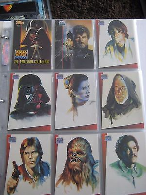 Star Wars Trading Cards Galaxy Series One with sleeves VGC