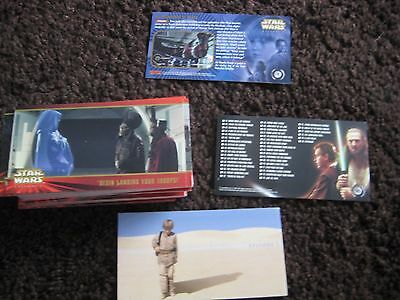 Star Wars Trading Cards Topps Widevision Episode 1 80 Complete set  VGC