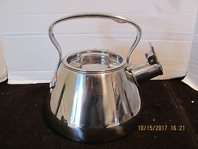 Stainless Steel Kettle Whistling Vintage Tea Pot Water 2 Qt. Silver All-Clad