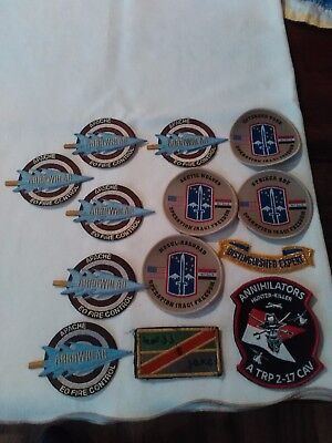Huge lot of US Army Military Patches Apache Arrowhead, Annihilators hunter