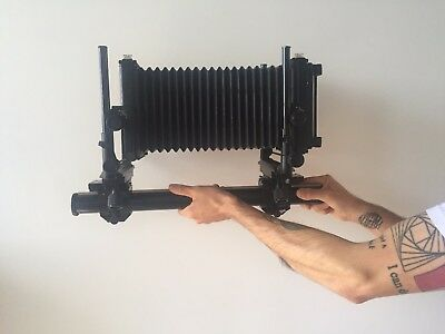 Toyo 45GII w. collapsible bellows, long rail, ground glass, copal 0 lens board