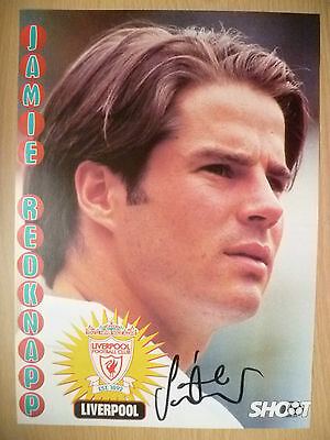 100% Genuine Hand Signed Press Cutting of Liverpool FC Player - JAMIE REDKNAPP