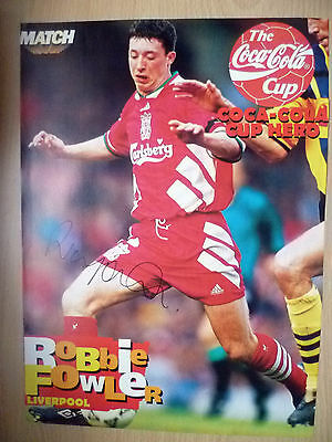 Original Hand Signed Press Cutting- ROBBIE FOWLER, Liverpool FC (appx A4 )