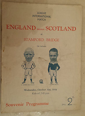 1934 League International Match - ENGLAND v SCOTLAND at Stamford Bridge