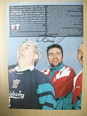 Original Hand Signed Press Cutting- ROY EVANS, Liverpool FC (apx. A4 )
