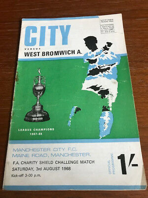 1968/69 Manchester City v West Brom (Charity Shield)