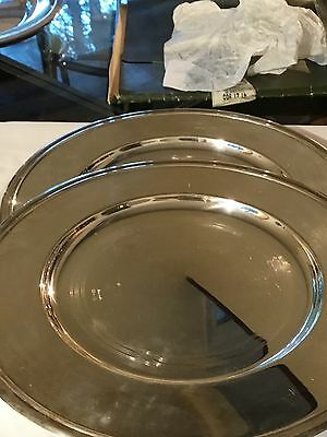 Christofle Prelude silver charger 2-piece set- 12 inch. stunning! $1100 new