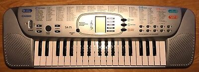 Casio SA-75 Song Bank Electronic Keyboard Portable Musical Beginners 100 Tones