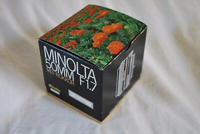 Minolta Md Rokkor 50Mm F1.7 Lens - Box Only- Excellent Condition