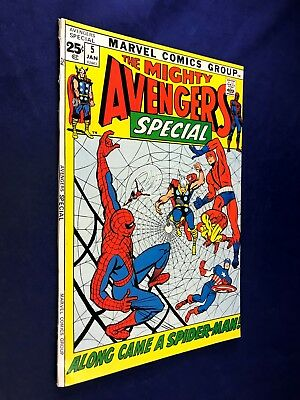 Avengers Annual #5 (1972 Marvel Comics) Spider-Man appearance NO RESERVE