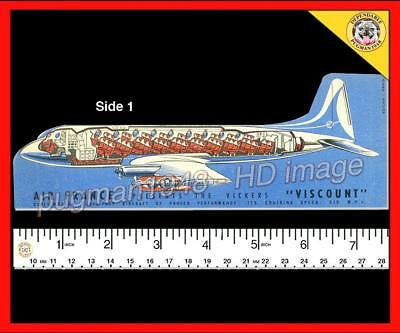 AIR FRANCE AIRLINES c1957 AIRLINE VISCOUNT BOOKMARK... Detailed CUTAWAY