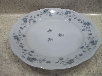 "4 Johann Haviland Bavaria Germany Dinner Plates 10""  Blue Garland Flowers"