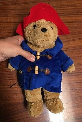"Paddington Bear 2009 Rainbow Designs UK P013 0FW ~14"" W/ Luggage Tag Pre Owned"