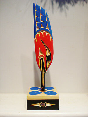 Northwest Coast Native Art Salish Hummingbird feather sculpture free shipping