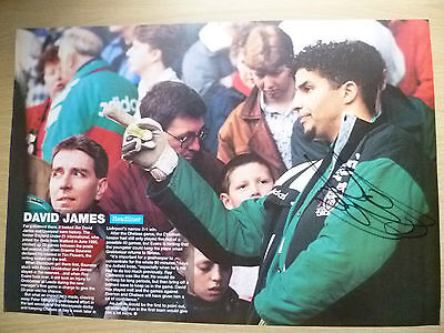 Original Hand Signed Mag Pictures- DAVID JAMES at Liverpool FC(Apx11.5x8.2in