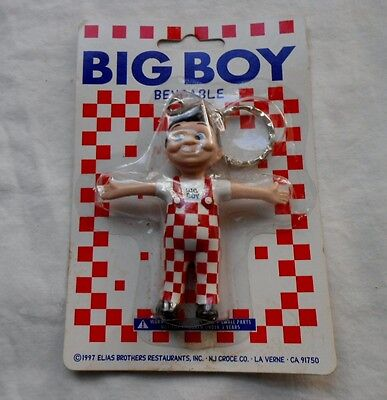 Bob's Big Boy Bendable Key Chain~Mint in Package