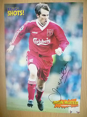 Original Hand Signed Press Cutting- JASON McATEER, Liverpool FC (apx. A4).