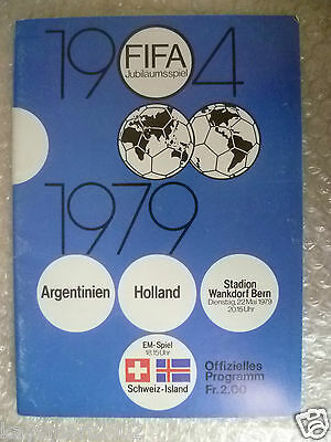 1979 FIFA Offiial Programme ARGENTINA v HOLLAND, 22 May