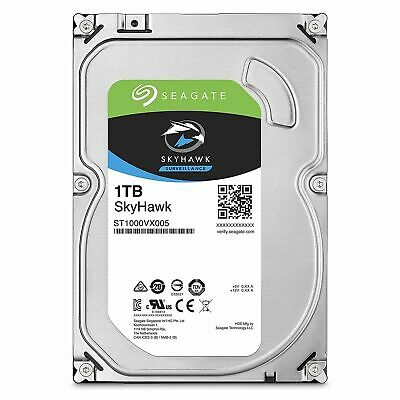 "Seagate SkyHawk 1TB 3.5"" SATA Internal Surveillance Hard Drive HDD 5900RPM 64MB"