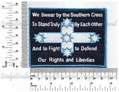 We Swear by The Southern Cross Eureka Flag Badge Embroidered Cloth Patch