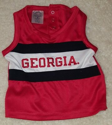 Rivalry Threads Georgia Top to Cheerleader Suit- Size 12 Mo- No bottoms