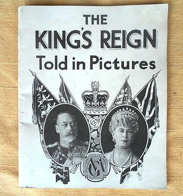 King`s Reign Pictures Coronation King George Queen Mary Souvenir Collector