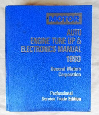 1990 Motor Auto Engine Tune Up Electronics Manual Book GM Chevy Chevrolet 1985