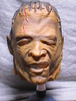 Vintage Halloween Mask Frankenstein early 80s made in Mexico not don post