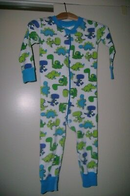 Hanna Andersson blue & green dinosaurs organic cotton sleeper-80  18 to 24 mo US