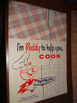 "REDDY KILOWATT ""I'm REDDY to help you cook"" Recipe Cookbook - excellent conditio"