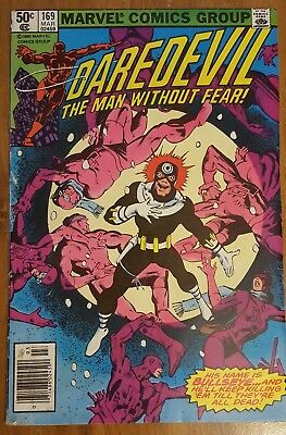 Daredevil #169 (Fed 1981, Marvel) 2nd appearance of Elektra Frank Miller Netflix