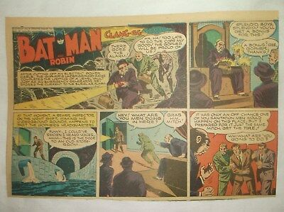 Vintage Sunday Comics Pages Strips 1940's Batman And Robin Cranberry Boggs 1945