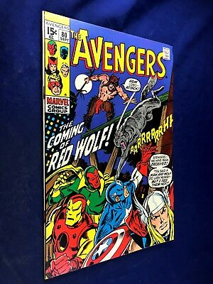 Avengers #80 (1970 Marvel Comics) 1st appearance Red Wolf Bronze Age NO RESERVE